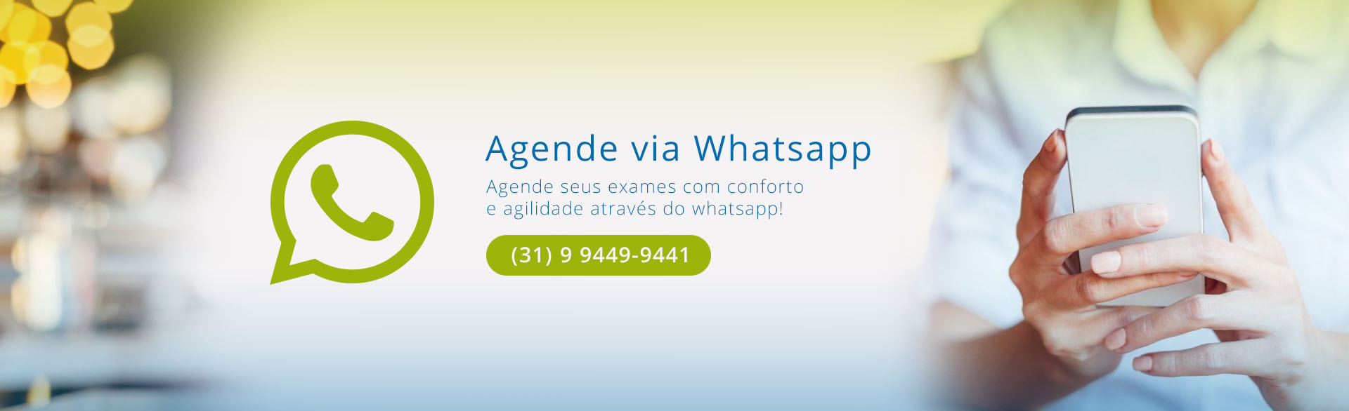 agendamento de exames via whatsapp